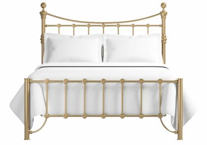 Arran low footend bed in a antique brass finish - Thumbnail